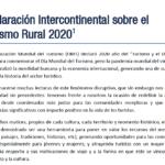 Declaración Intercontinental sobre el Turismo Rural 2020